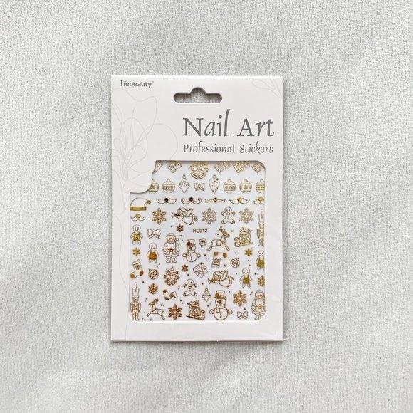 Gold Christmas Nail Art Set