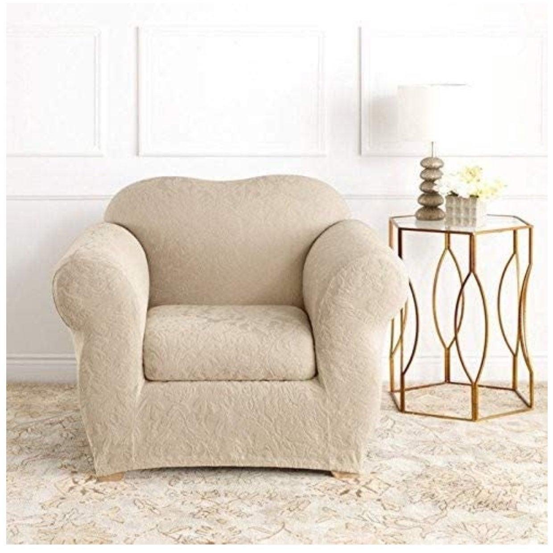 SureFit Jacquard Damask Chair slipcover