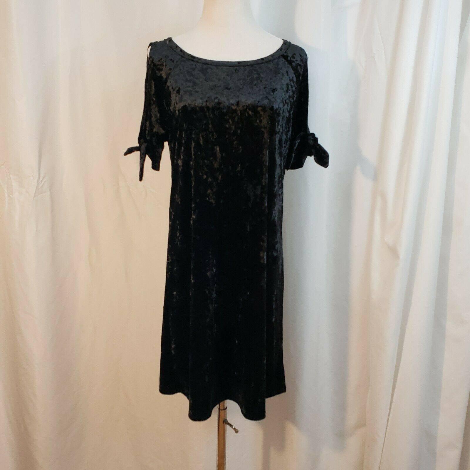 Sanctuary XS black s/s mini velvet dress