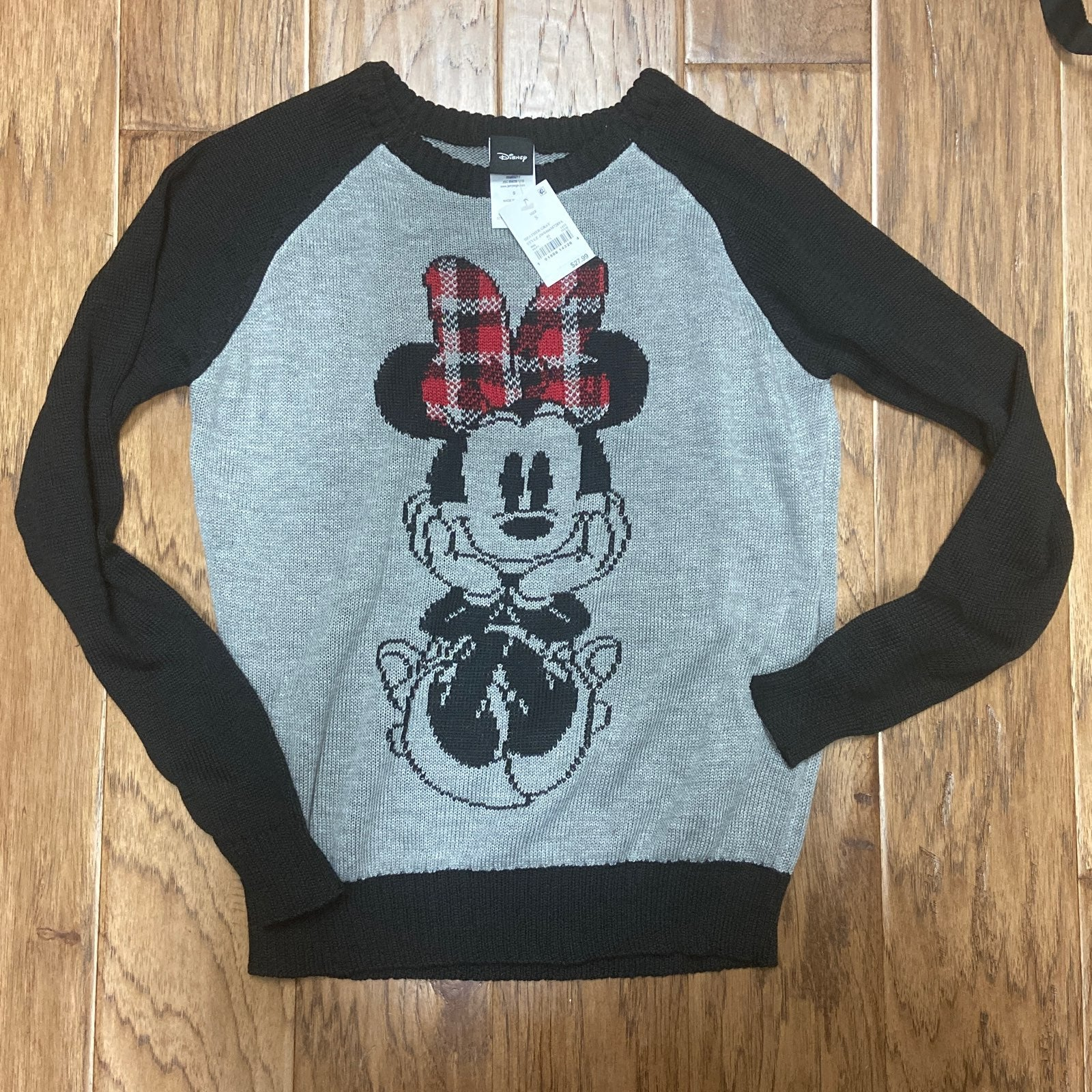 Disney Minnie Sweater with plaid bow