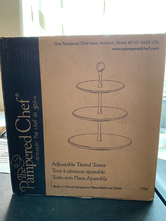 Pampered Chef Adjustable Tiered Tower