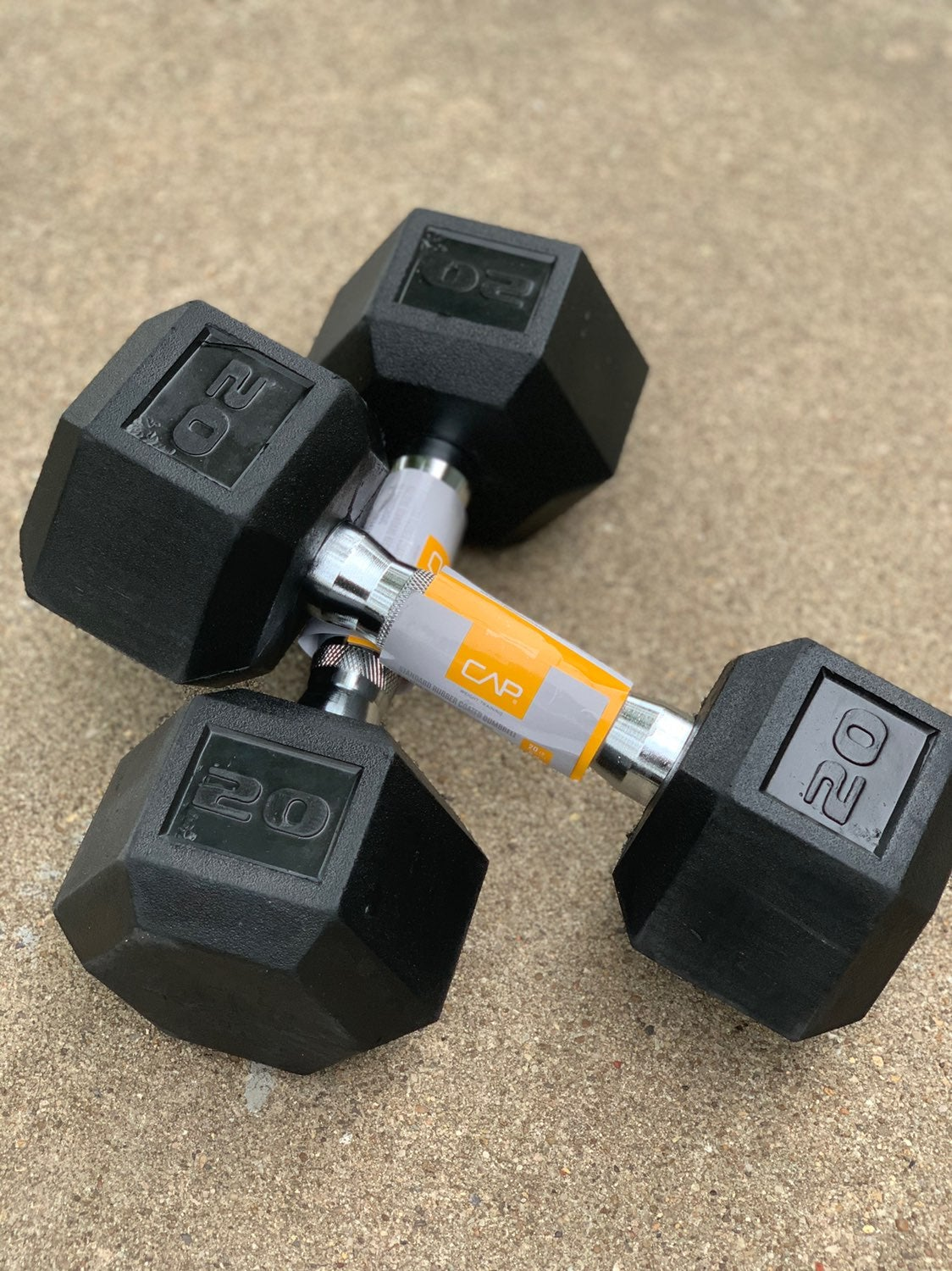 NEW CAP 20lb Dumbbells Set (40lb Pair)