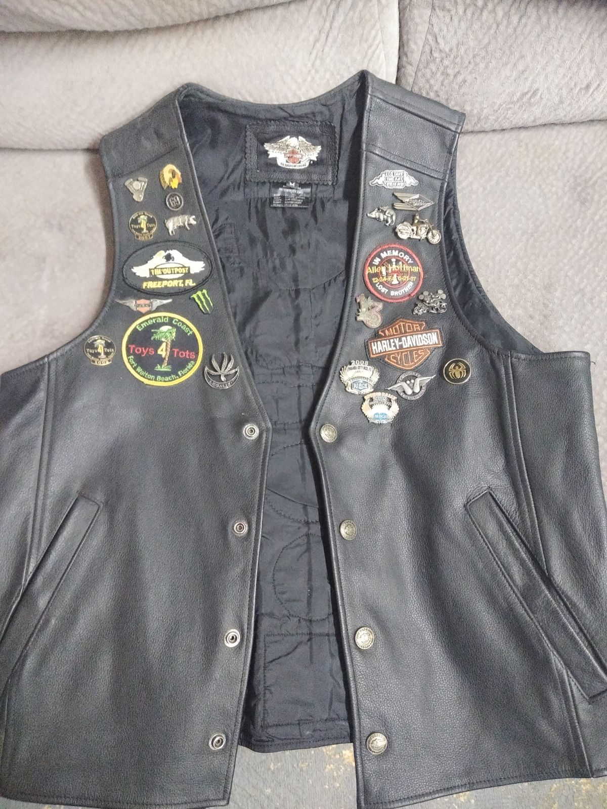 Leather Vest Harley Davidson