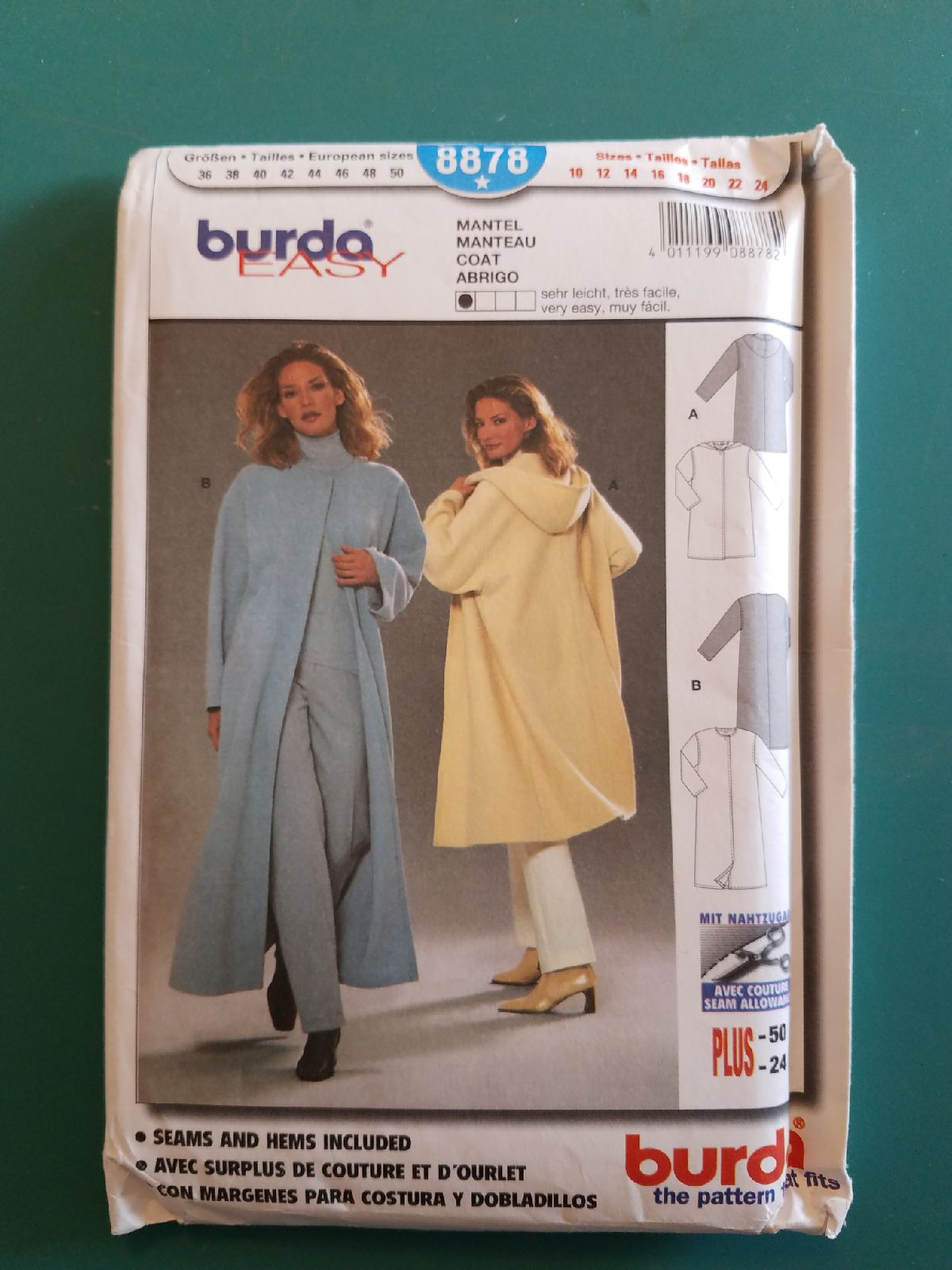 Burda easy 8878 sewing pattern