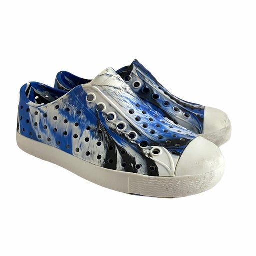 Native Jefferson Marbled Blue Shoes C 3