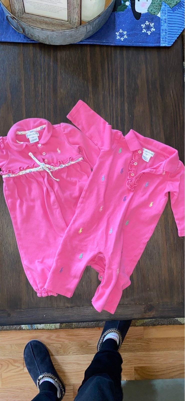 Ralph Lauren polo baby girl bundle 6m
