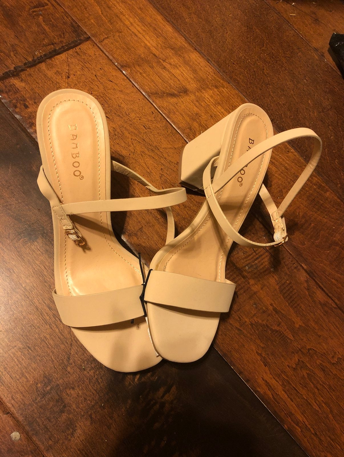 Brand new tan bamboo heels size 6