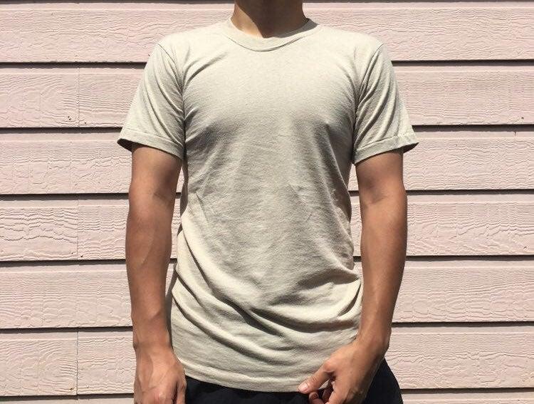 Vintage Single Stitch Cream Blank Shirt
