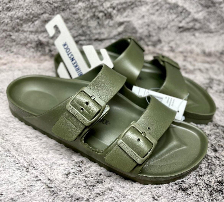 """Birkenstock Arizona Eva """"Khaki"""" Sandals"""