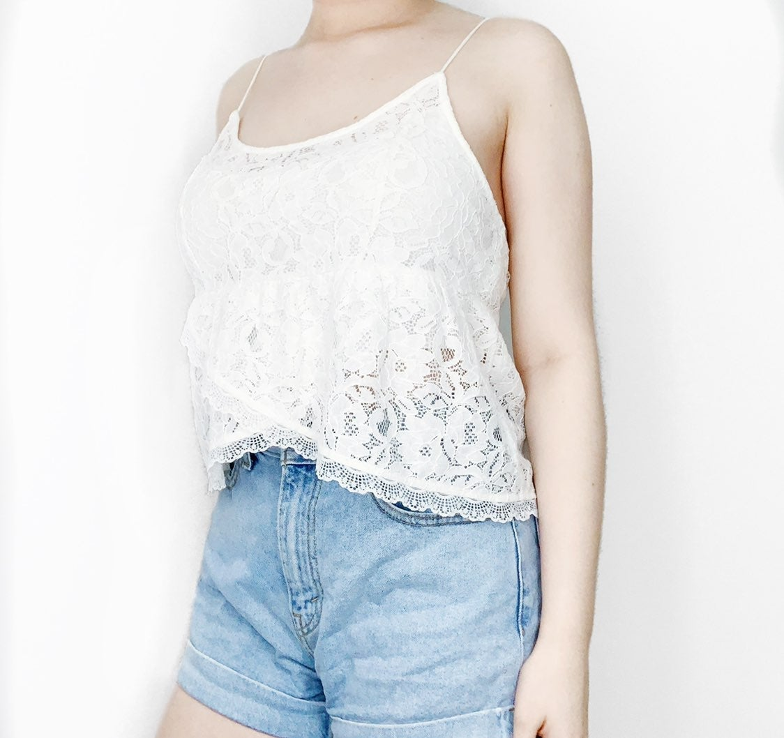 Hollister babydoll lace camisole tank