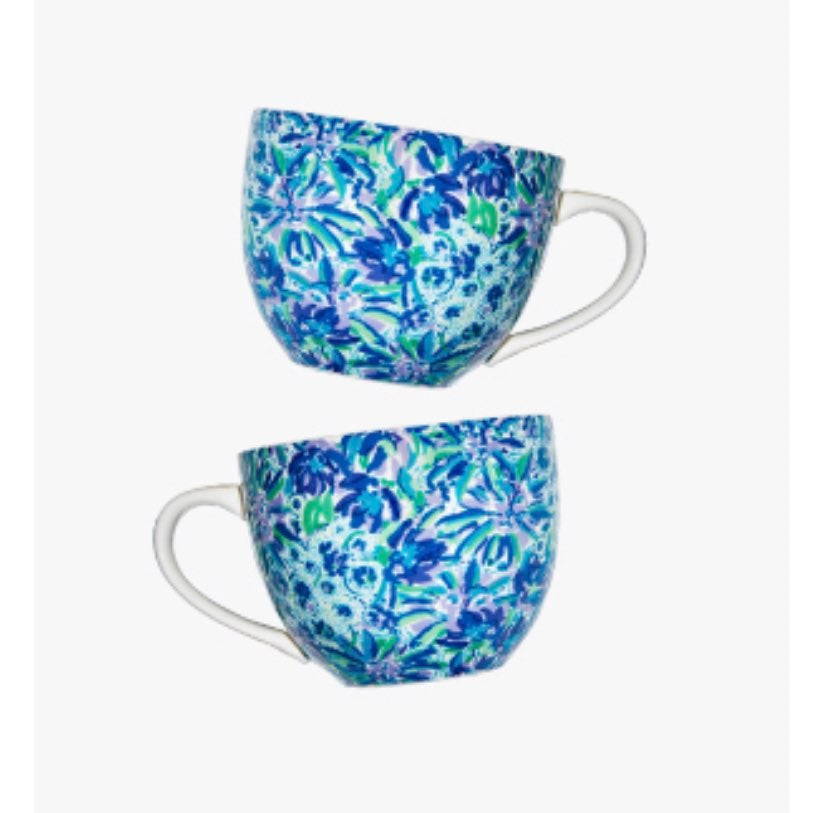 Set of two Lilly Pulitzer mugs