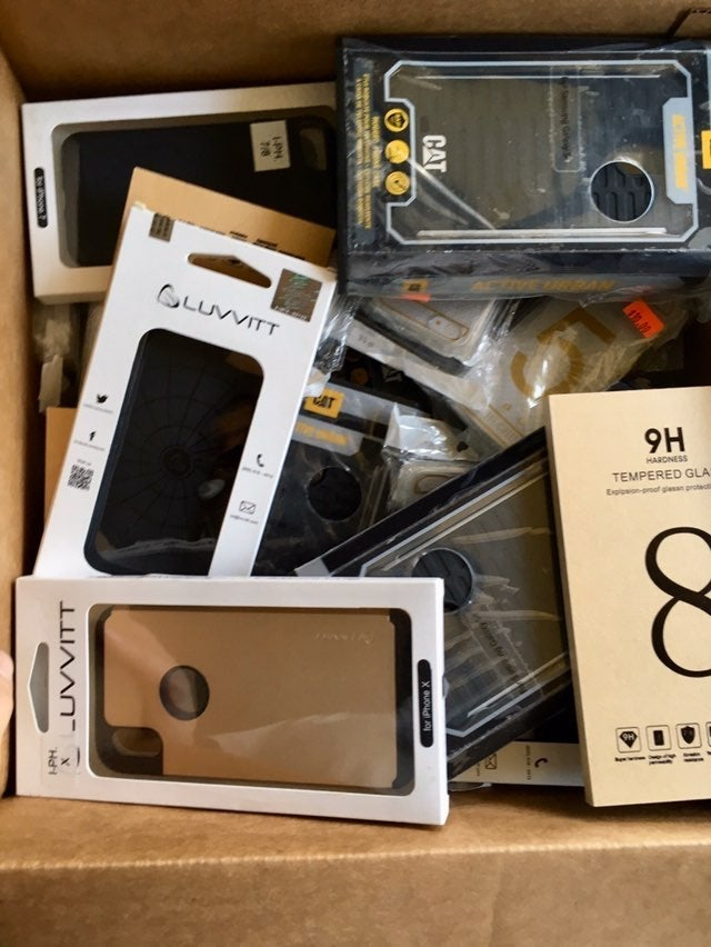 lot of cellphone cases + accessories