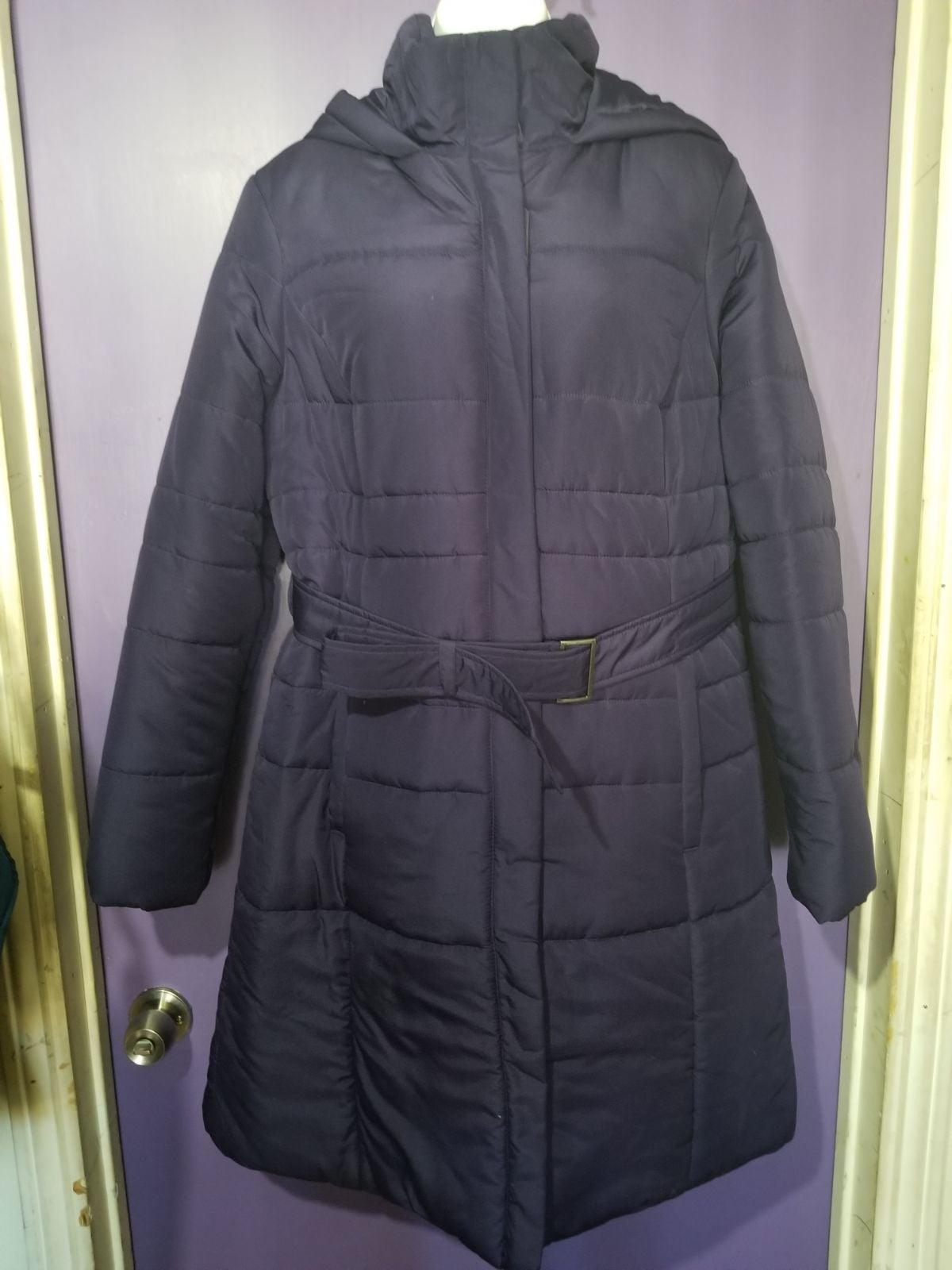 Womens merona long puffer coat