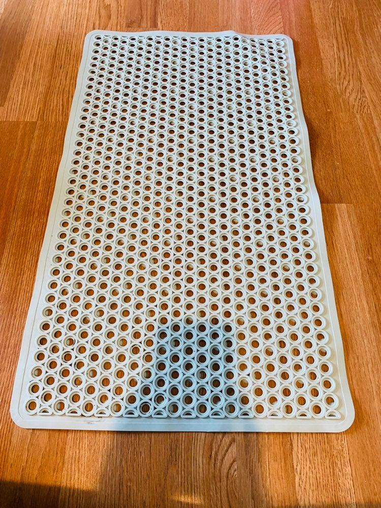 Baby blue shower mat