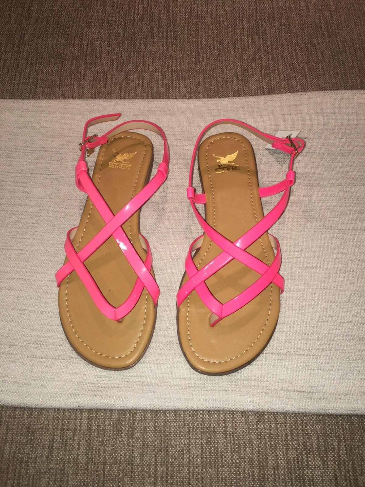 Hot Pink Neon Sandals