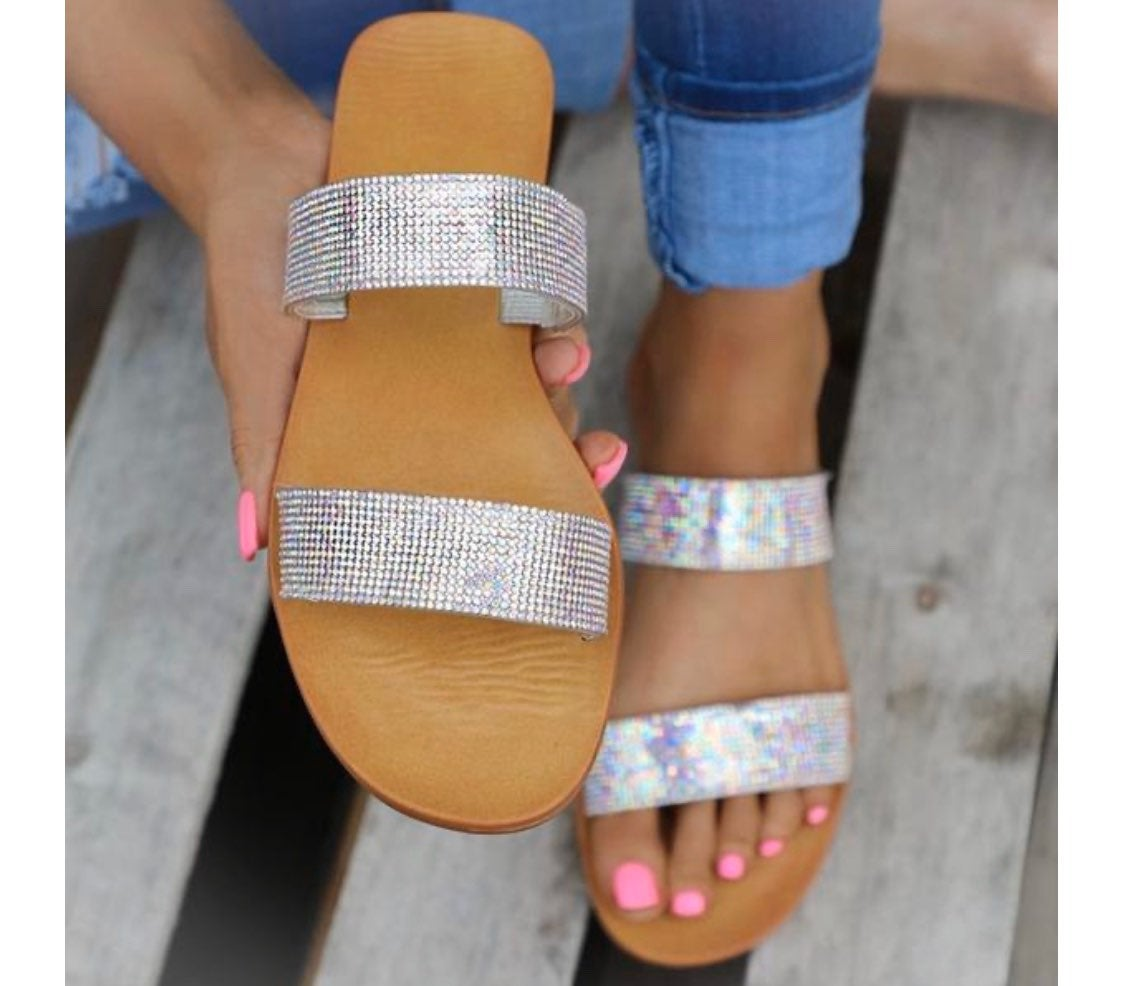Silver Moon Bling Sandals, New