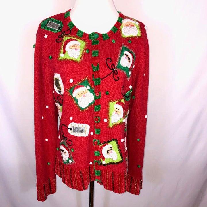 BEREK Vintage UGLY CHRISTMAS SWEATER L