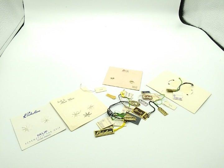 Vintage Ephemera Jewelry Original Tags