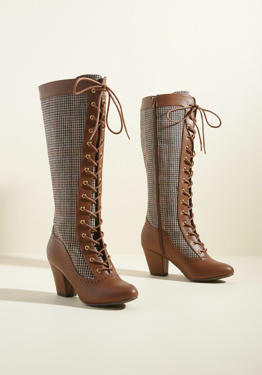 B.A.I.T. Plaid Heather (PU) Leather Boot