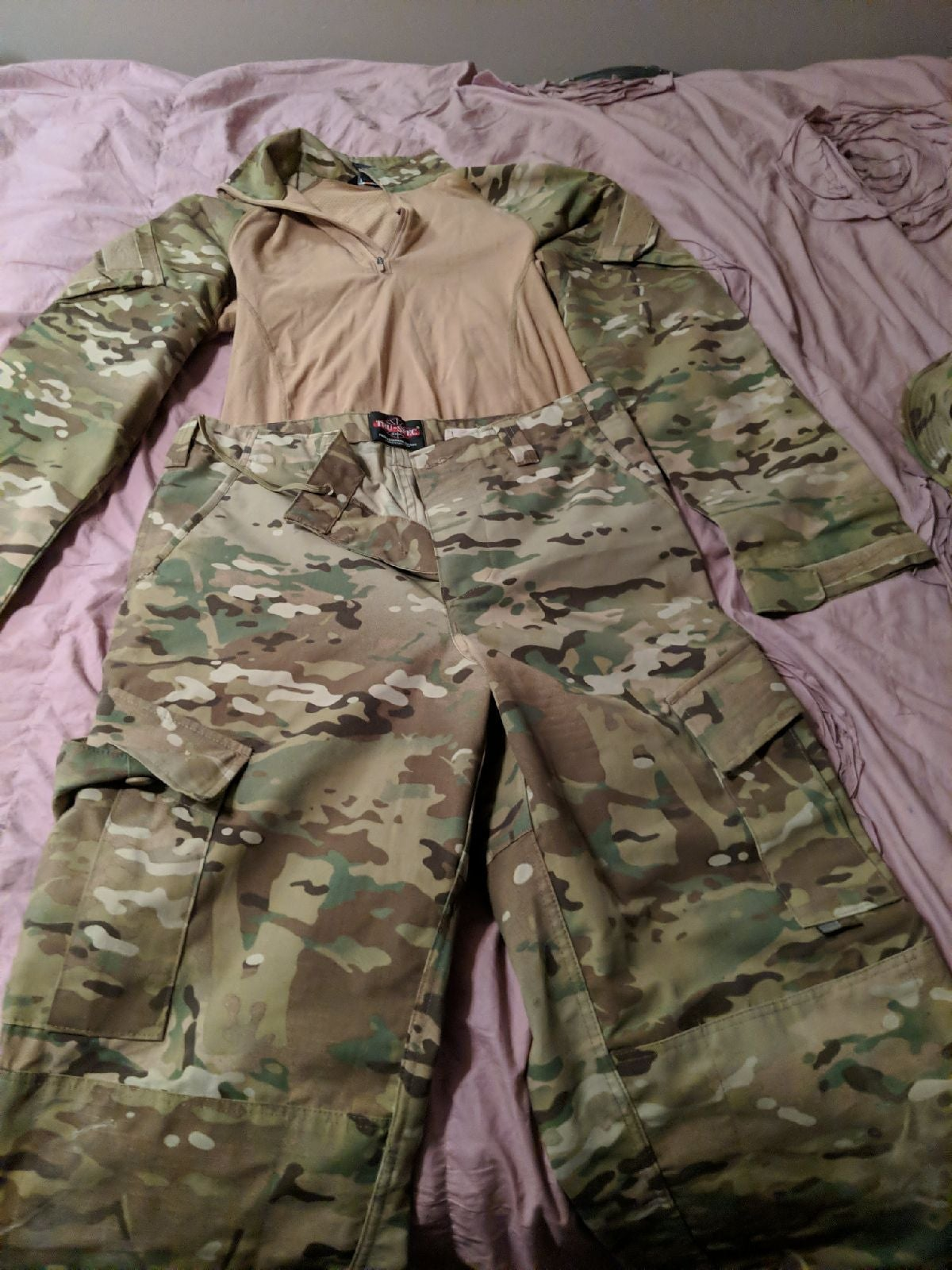 Army combat Shirt pants and hat