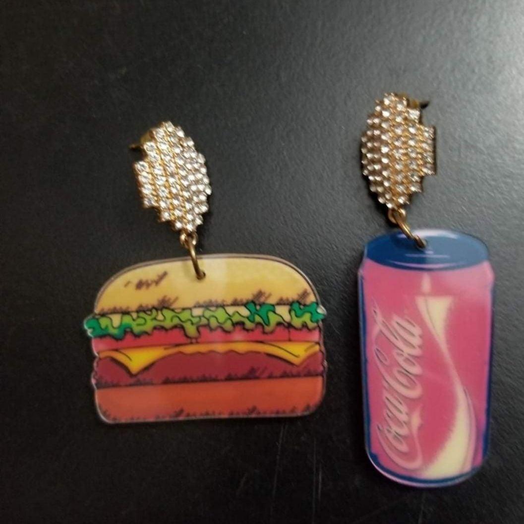 Hamburger & Soda Earrings