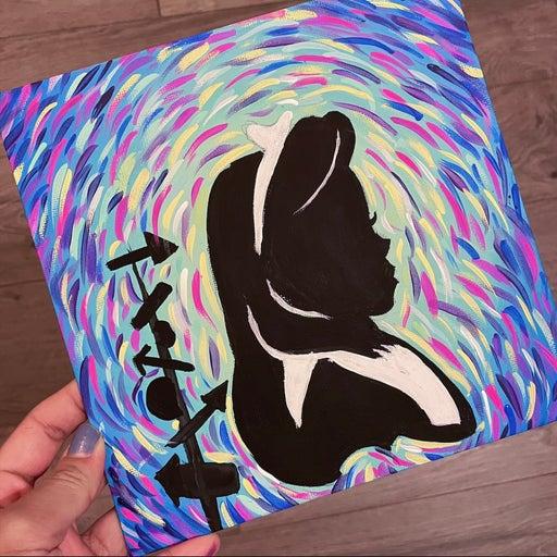 Alice In Wonderland Acrylic Painting