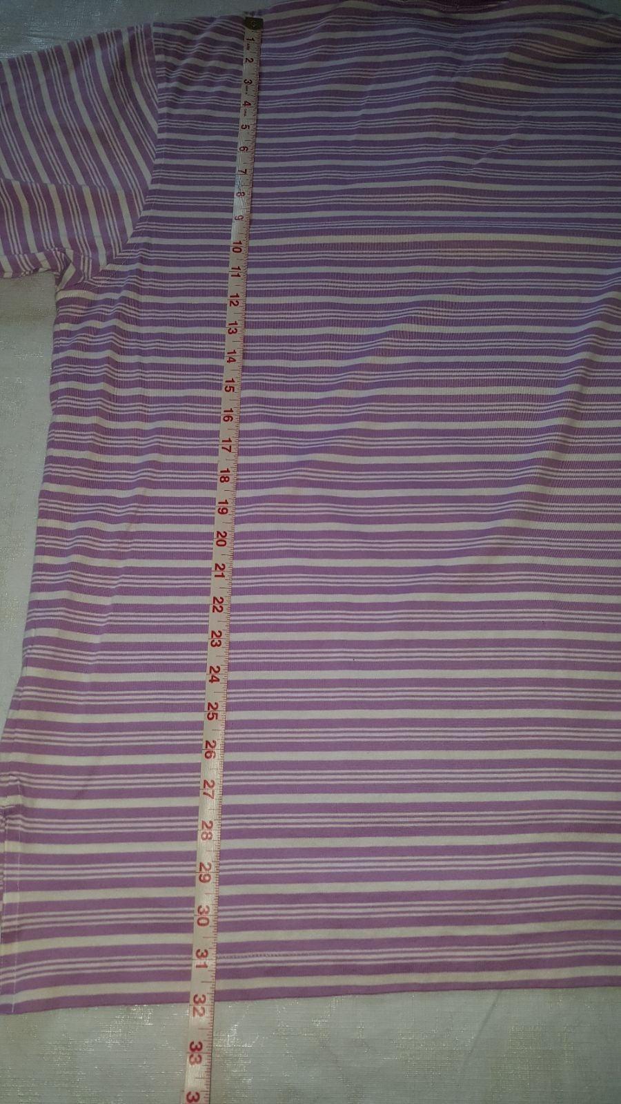 Men, Polo Shirt, Striped Lilac and White