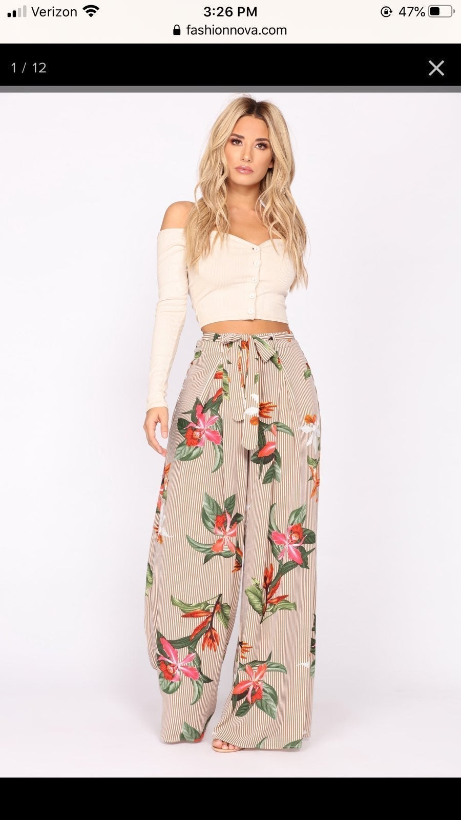 Fashion nova Thailand floral woven pants