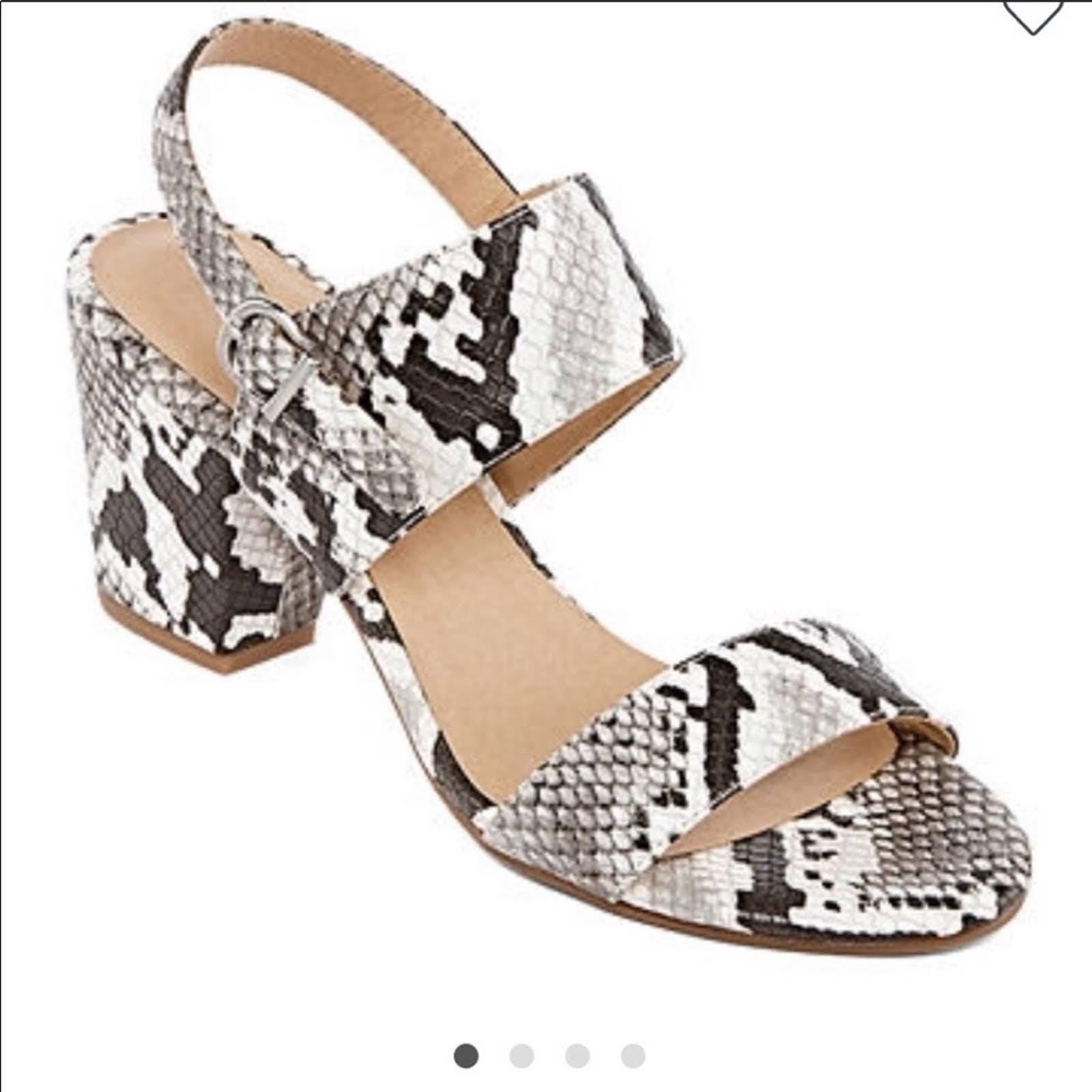 Chinese Laundry snakeskin heels 7 1/2