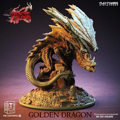 Golden Dragon Resin Miniature