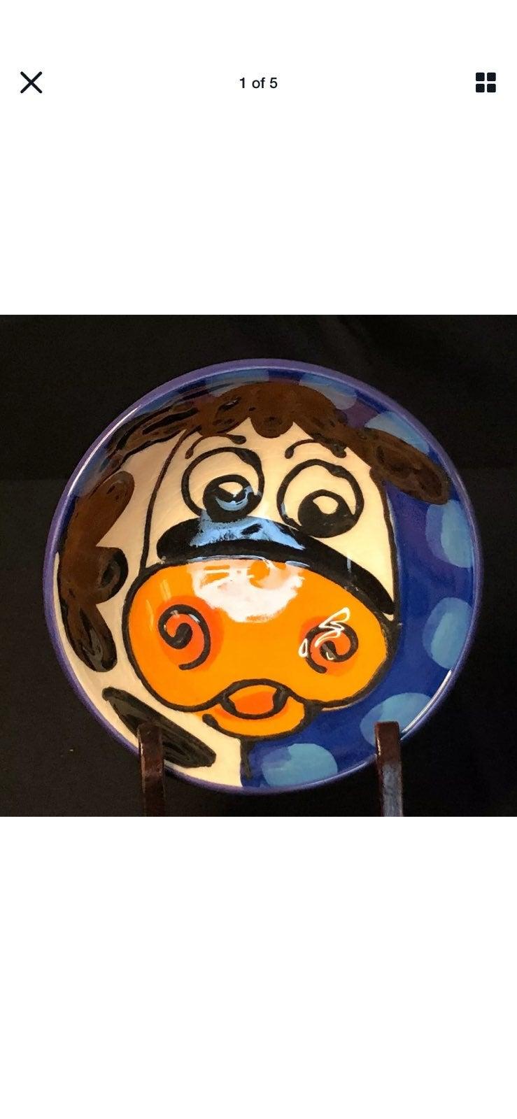 Splashy™ New Zealand Cow Ceramic dish ha