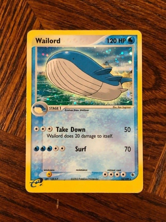 RARE Wailord Holo - Ruby & Sapphire