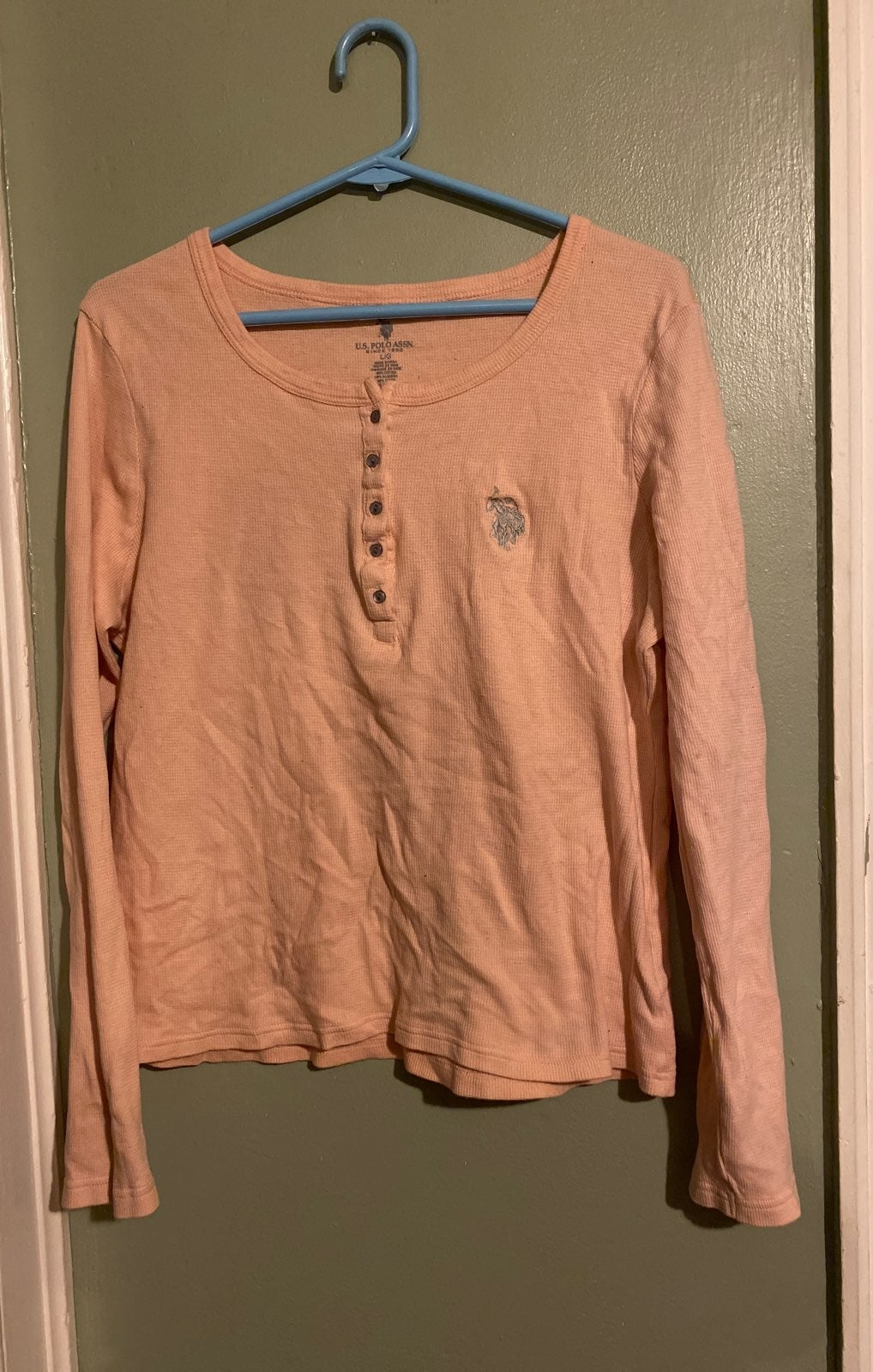 Polo Pink Thermal Henley