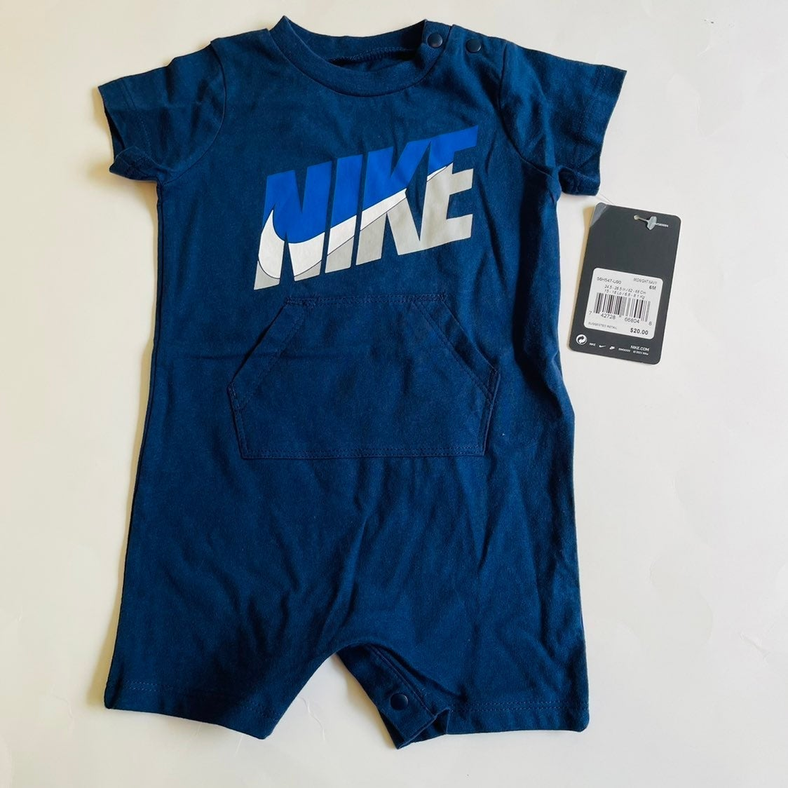 6 months Nike navy blue baby romper  NWT