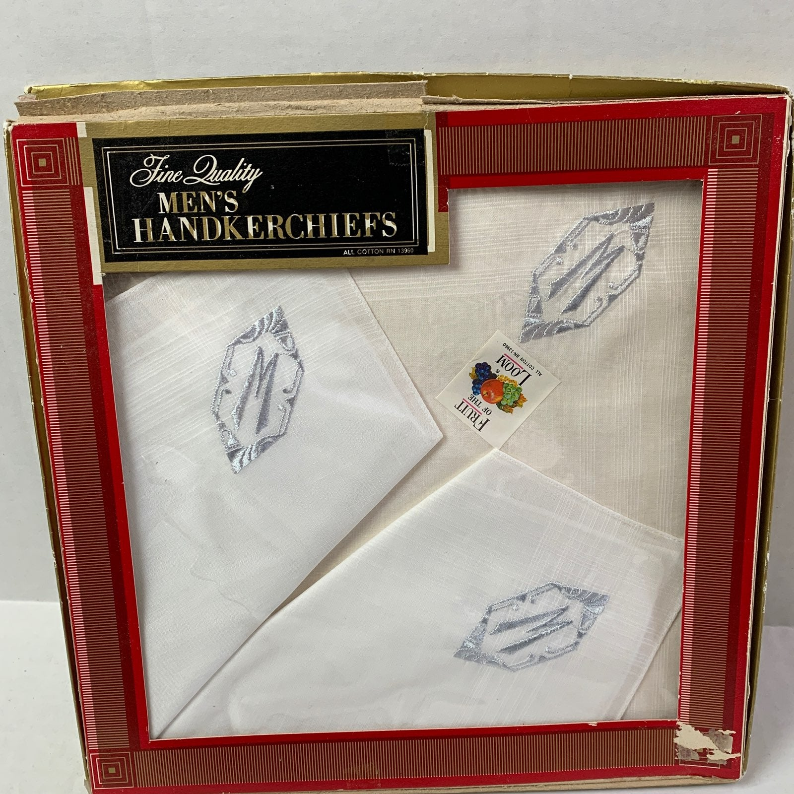 Vintage Fruit Of The Loom Handkerchiefs