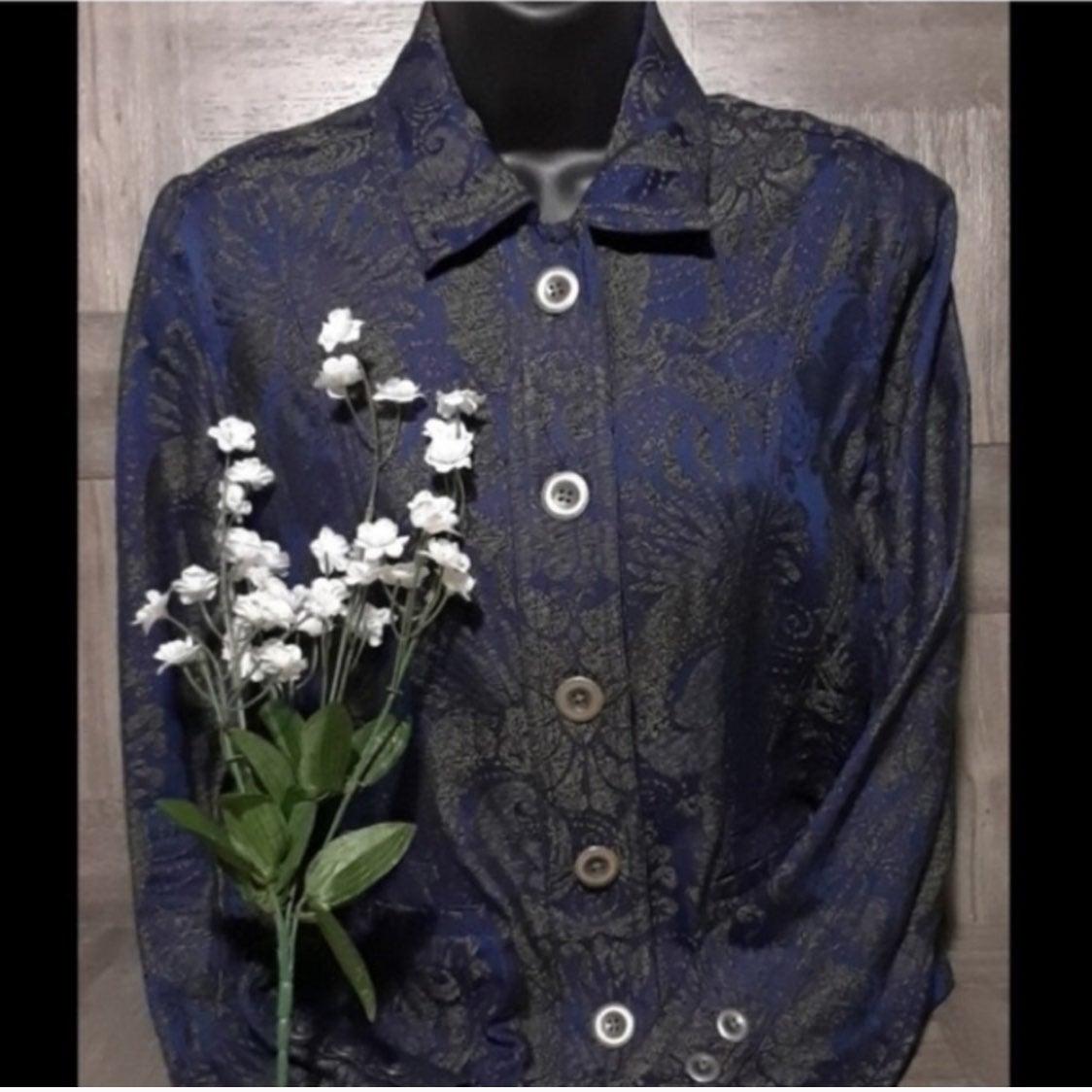 Chicos printed jacket / blazer