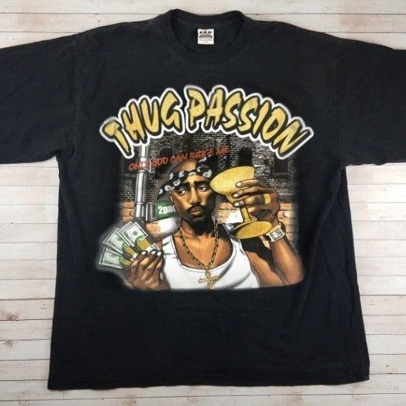 VTG 90s/00s Tupac Thug Passion Rap Tee