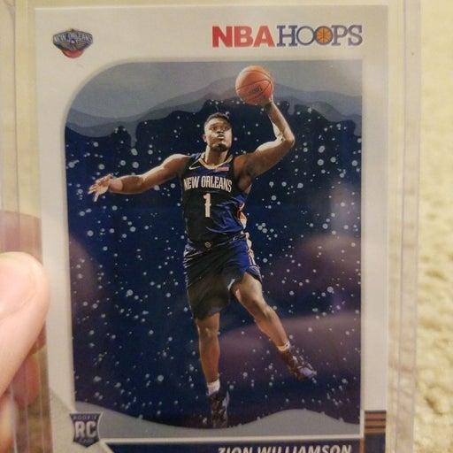 Zion Williamson NBA hoops Christmas card