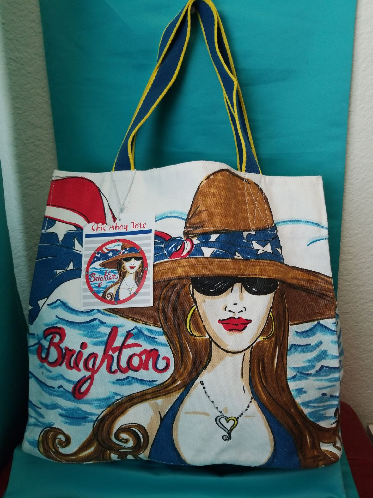 Brighton Chic Ahoy Beach Tote Canvas