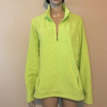 NWT Tek Gear Lime Green Pullover Large