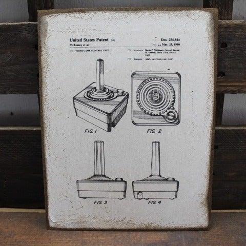 ATARI Joystick US Patent vintage sign