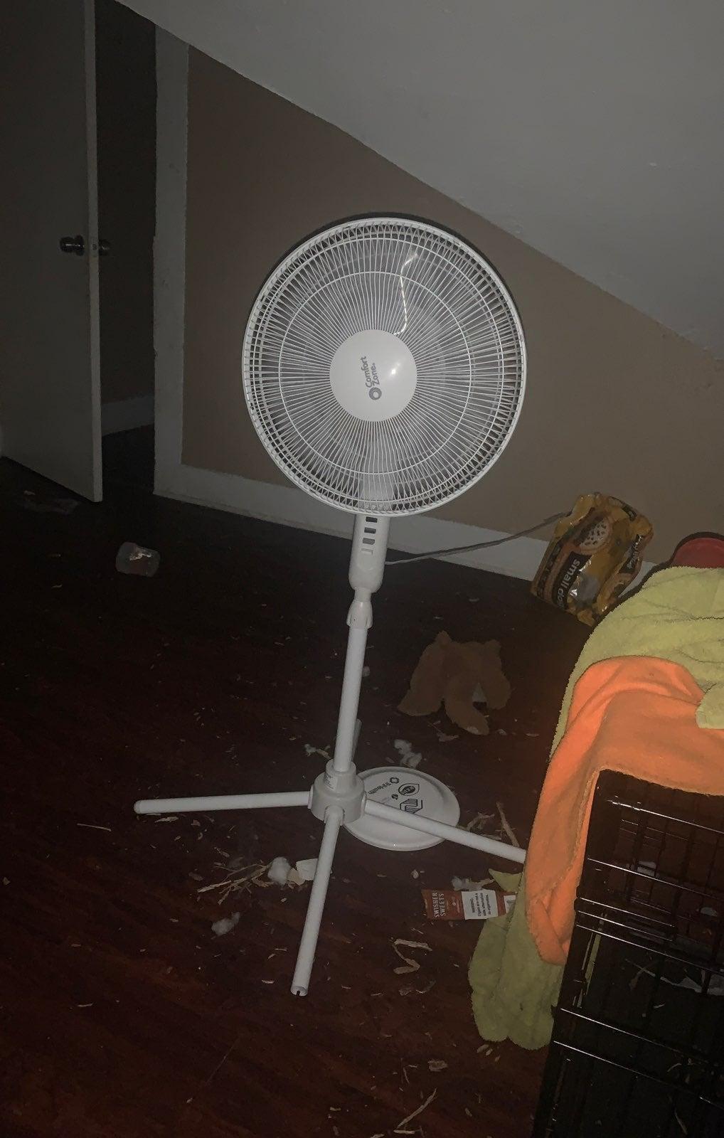 A 24 inch rotating fan