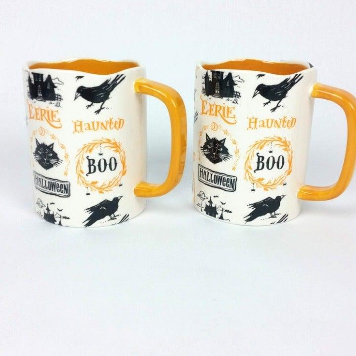 Halloween Mug Set Black Cat Haunted
