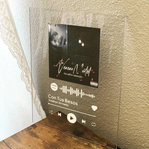 Custom acrylic song plaque