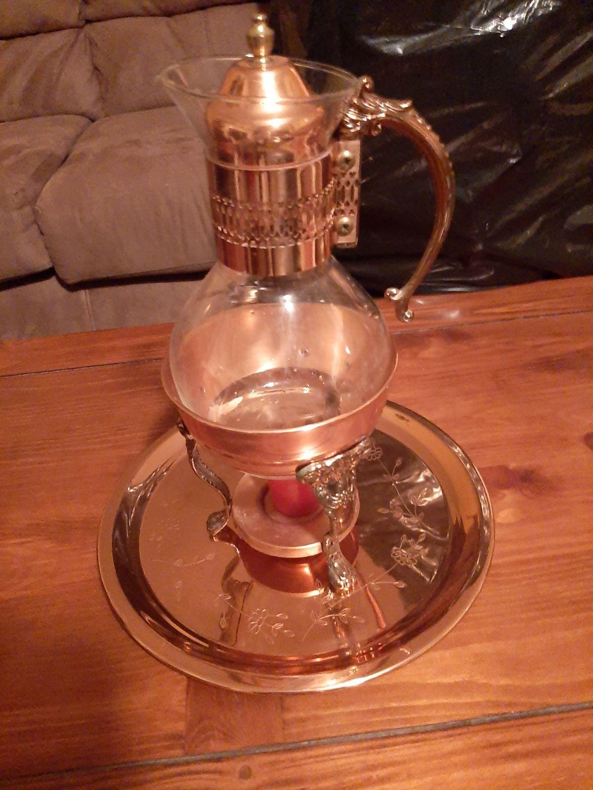 Princess House Heritage Copper Coffee Se
