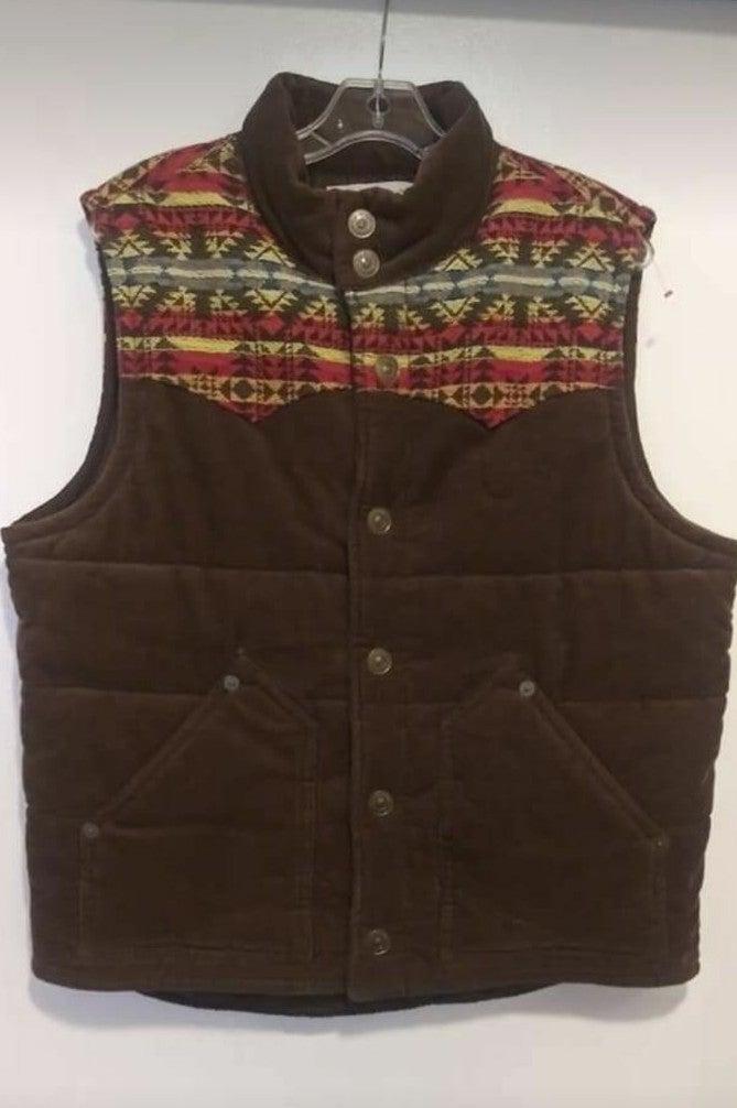 True Religion corduroy Vest size L Mens