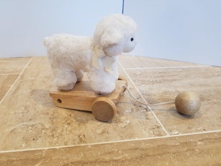 Pottery Barn Kids Pull Along Sheep Lamb
