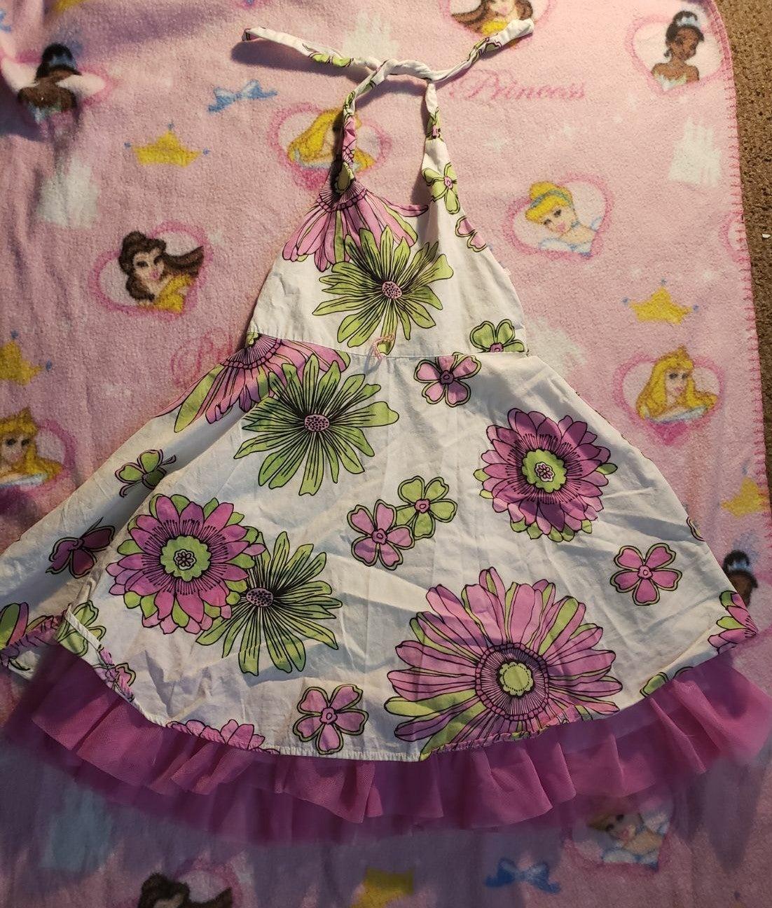 Cute 4t toddler girls floral sundress