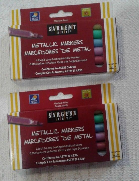 (2)Sargent Art Metals Metallic Markers