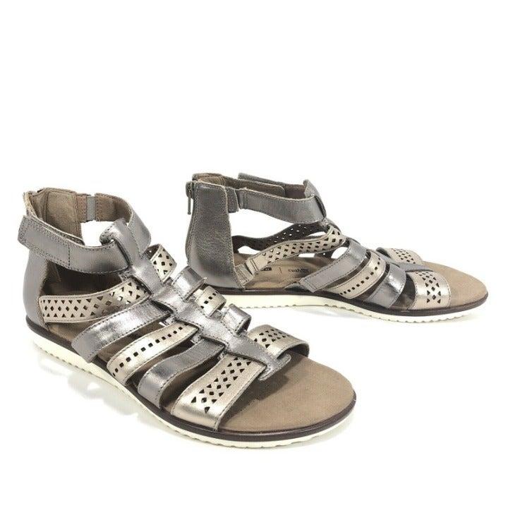 Clarks Metallic Leather Gladiator Sandal